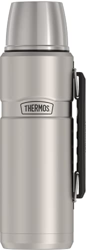 THERMOS Stainless King Vacuum-Insulated Beverage Bottle, 40 Ounce, Matte Steel