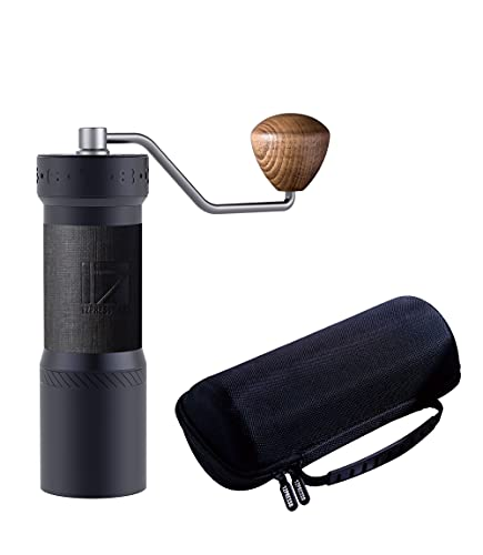 1Zpresso K-Max Manual Coffee Grinder with Assembly Consistency Grind Stainless Steel Conical Burr, Intuitive Numerical External Adjustable Setting, With 90 clicks per round, All-Round Grinder