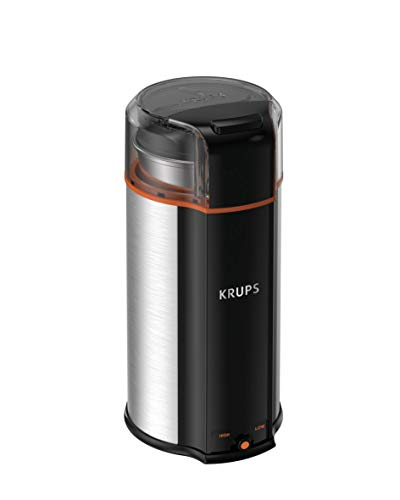 KRUPS GX336D50 Ultimate Super Silent 3 in 1 Blade Grinder for Spice, Dry Herbs and Coffee, 12-Cup, Black