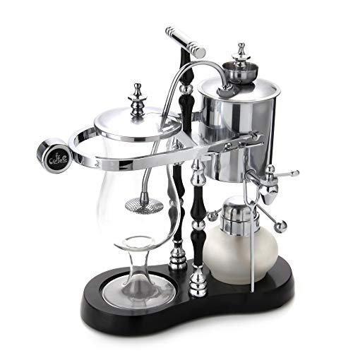 Diguo Belgian/Belgium Balance Siphon/Syphon Coffee Maker. Elegant Double Ridged Fulcrum with Tee handle