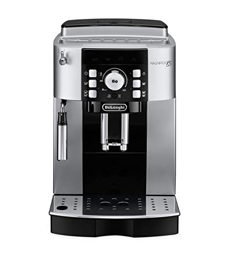 De'Longhi ECAM22110S Magnifica XS Fully Automatic Espresso Machine with Manual Cappuccino System, 9.4 x 17 x 13.8 inches, SILVER AND BLACK