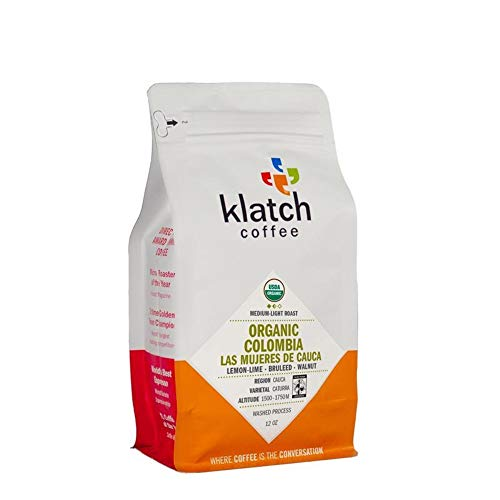 Klatch Coffee 'Organic Colombia Las Mujeres De Cauca (FTO)' Medium Roasted Fair Trade Organic Whole Bean Coffee - 12 Ounce Bag
