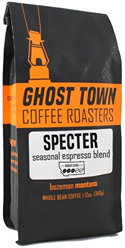 Ghost Town Coffee Roasters 'Specter Espresso' Medium Roasted Fair Trade Shade Grown Whole Bean Coffee - 12 Ounce Bag