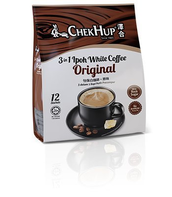 2-Pack Malaysia Chek Hup 3 In 1 Ipoh White Coffee- Original (12s x 40g) (2)
