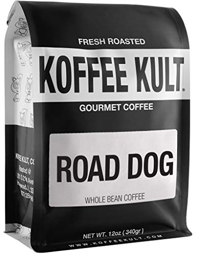Dark Roast Road Dog Coffee Blend (12oz Whole Bean)…