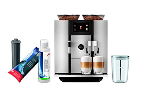 Jura GIGA 6 Automatic Coffe Machine Set with Smart Water Filter, System Cleaner and Milk Container