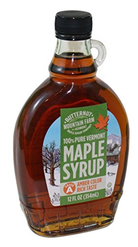 Vermont Amber Rich Maple Syrup Glass Jug 12 Ounce