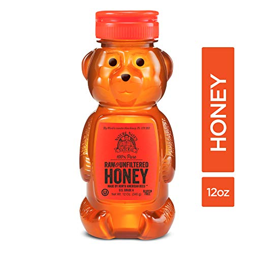 Nature Nate's 100% Pure Raw & Unfiltered Honey; 12-oz Bear Squeeze Bottle; Certified Gluten Free and OU Kosher Certified; Enjoy Honey's Balanced Flavors, Wholesome Benefits and Sweet Natural...