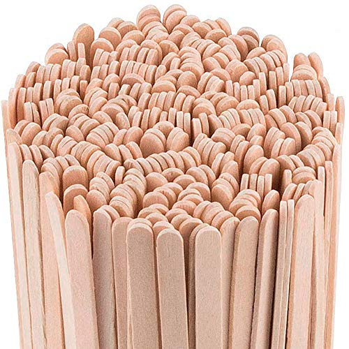 Daddy Chef Coffee Stirrers Sticks, Natural Birch Wood 1000 Count, 5.5', BPA Free Eco-Friendly Beverage Stirrers (5.5Inches / 1000PC)