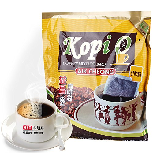 Aik Cheong Kopi-O Bags/Strong Black Coffee/Finest Liberica Beans Roasted To Perfection/Coffee Freshness Instantly Sealed/ 12s x 18g