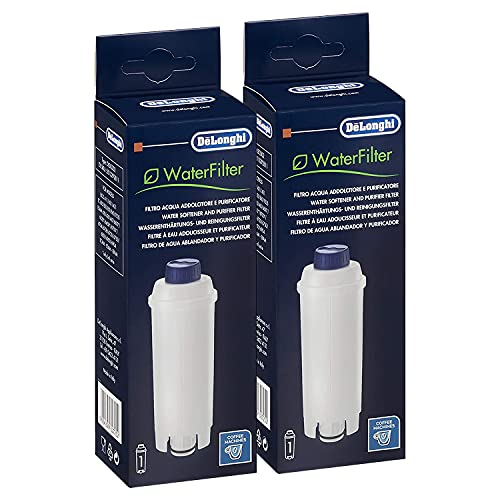 Delonghi Water Filter DLS C002 Pack (X2) for Delonghi Espresso and Bean to Cup Machines