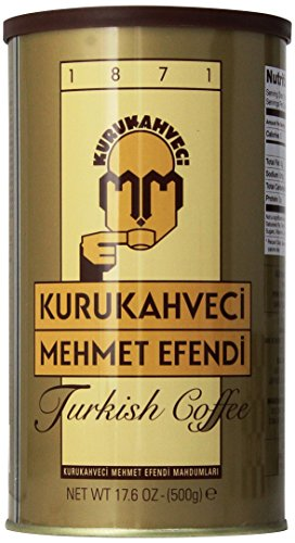 Kurukahveci Mehmet Efendi Turkish Coffee, 17.6 Ounce (Pack of 1)