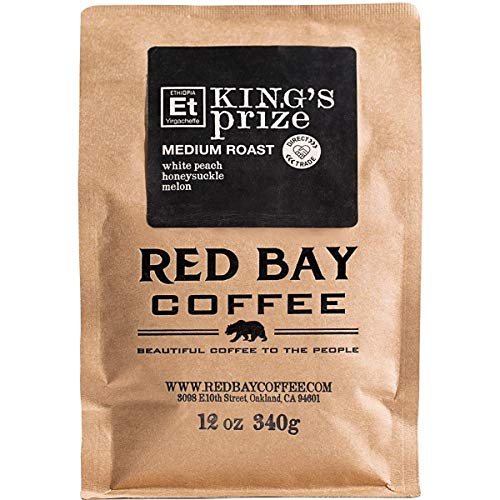 Red Bay Coffee King's Prize Ethiopian Coffee Beans - Medium Roast Ethiopian Yirgacheffe Coffee - Fresh Whole Bean Coffee - Single Origin Coffee Beans - 2.5oz Sample of Specialty Coffee Beans