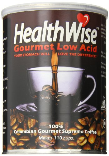 HealthWise Low Acid Coffee, 100% Colombian Supremo, 12 Ounce