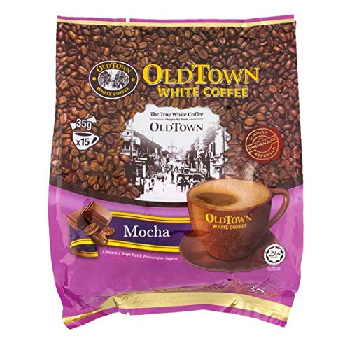 Old Town White Coffee Mocha 3 in 1 Instant Premix White Coffee 15 Stick ( 15 X 35g ), Packet 525g