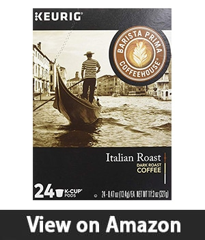 10. Barista Prima Coffeehouse Italian Roast Coffee - K-Cup for Keurig Brewers