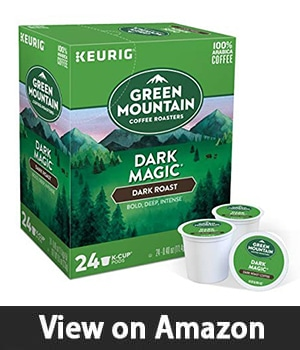 11. Green Mountain Coffee Dark Magic Keurig - Single Serve K-Cup Pods Dark Roast Coffee