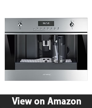 "4. Smeg CMSU6451X 24"" - Built In Fully Automatic Coffee Machine with Milk Frother Stainless Steel"