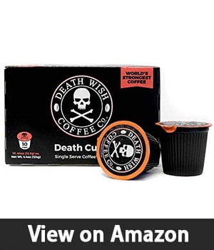 5. Death Wish Coffee Single Serve Capsules - for Keurig K-Cup Brewers