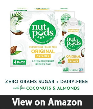 Nutpods Unsweetened Dairy-Free Creamer - Best Coffee Creamer with Coconuts and Almonds