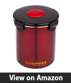LOVFFEE Coffee - Appealing Stainless Steel Canister for Coffee Lovers