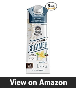 Califia Farms Almondmilk Coffee Creamer - Best Coffee Creamer with Organic Ingredients