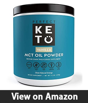 Perfect Keto Vanilla MCT Oil Powder - Best Coffee Creamer for Ketogenic Diets