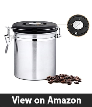 Chef's Star Coffee Canister - Best Coffee Canister with One Pound Capacity