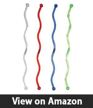 Creative Converting 24 Count Wavy Plastic Stirrers, Assorted Colors