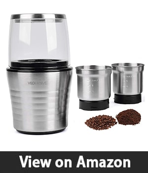 Multipurpose Electric Coffee Bean Grinder with 2 Removable Cups