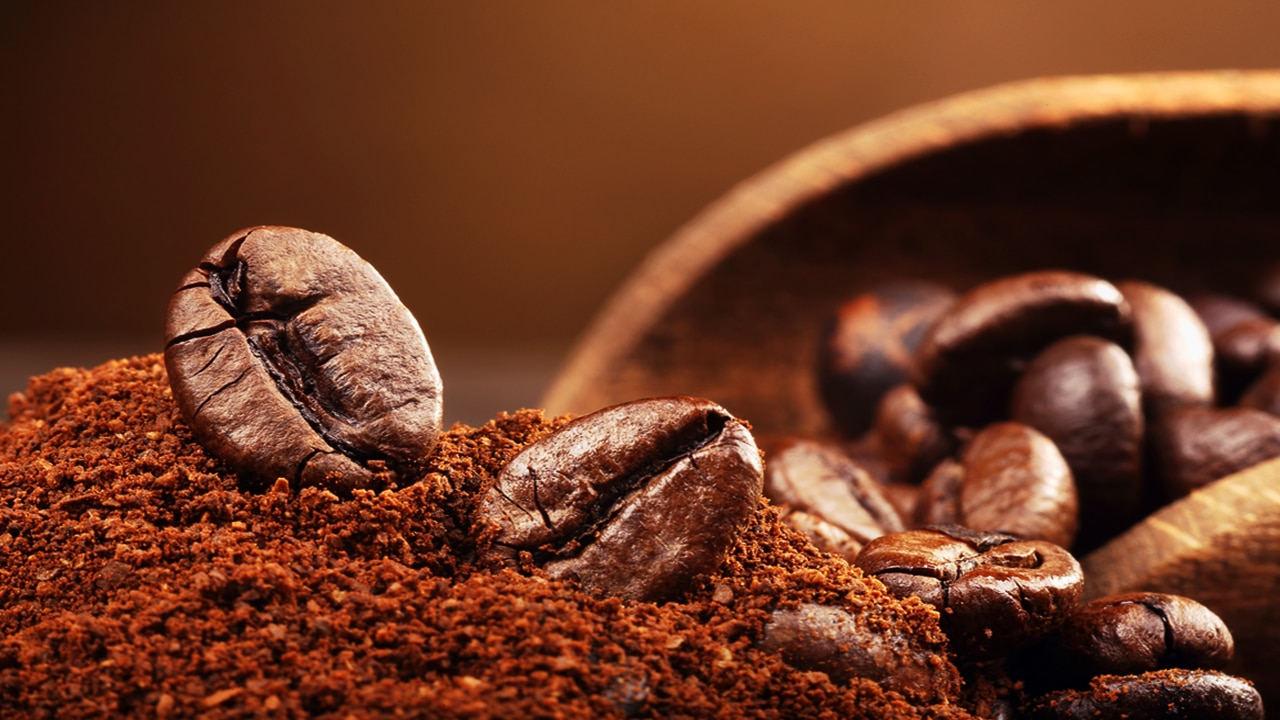 Coffee types Robusta cofee beans