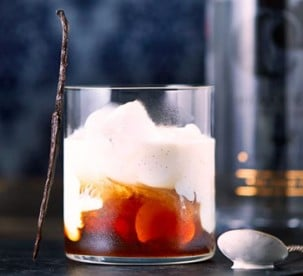 White Russian Coffee cocktail with cream