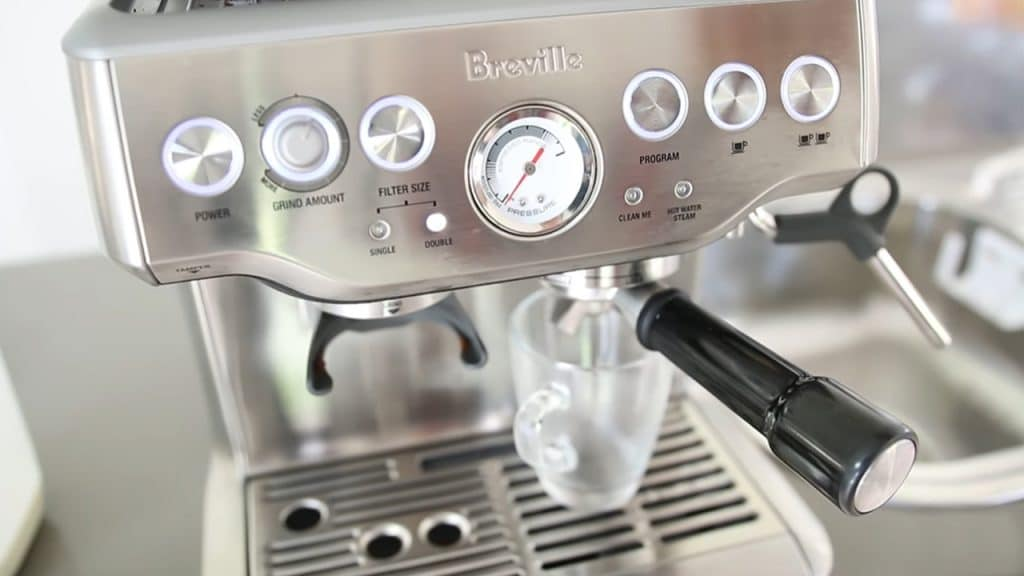 Breville BES870XL Barista Express Lights