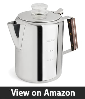 Tops Rapid Brew Stovetop Coffee Percolator – Best For Camping And Outdoor Use