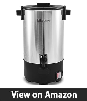 Elite Cuisine CCM-035FFP – 30 Cup Electric Stainless Steel Coffee Maker Urn