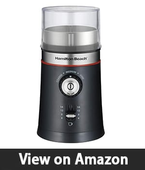 5. Hamilton Beach 10oz Electric Coffee Grinder – Versatile Coffee Grinding Machine